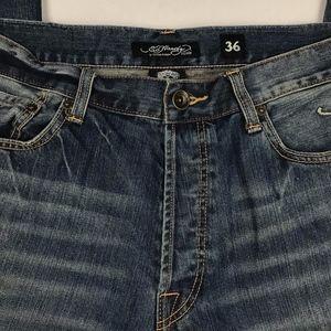 Men's Jeans with Eagle Snake Skull Back Pocket
